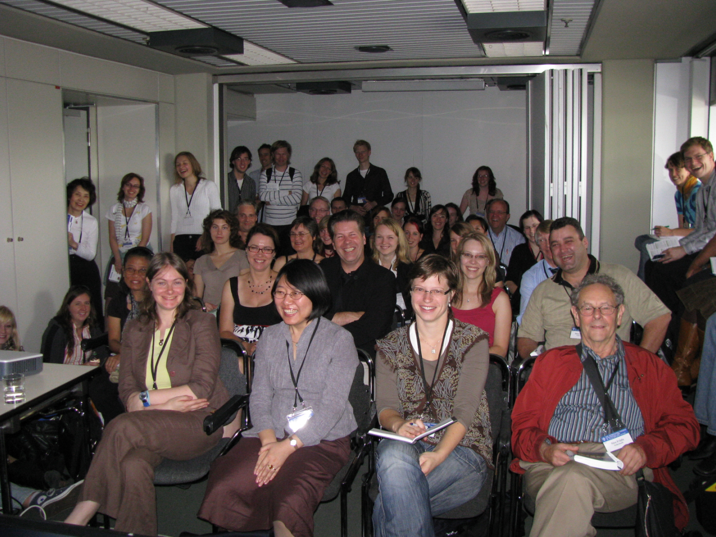 Audience during the GRID symposium, International Congress of Psychology, Berlin, July 2008. (Speaker was Pascal Thibault)